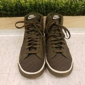 Nike High top Army Green Sneakers